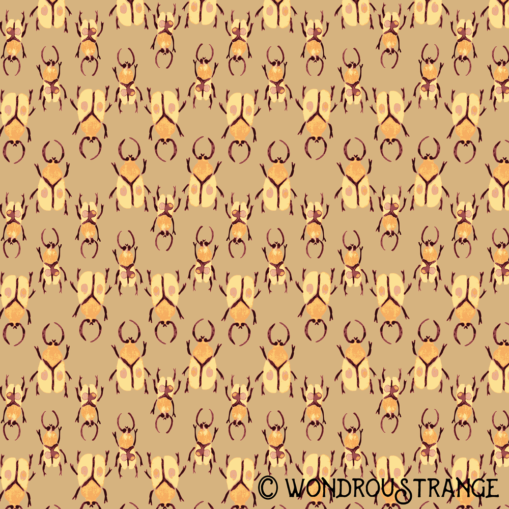 magenta and honey beetle pattern 1 display