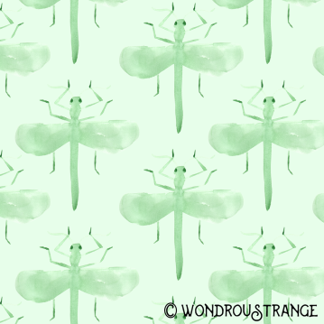 minty grasshopper pattern display