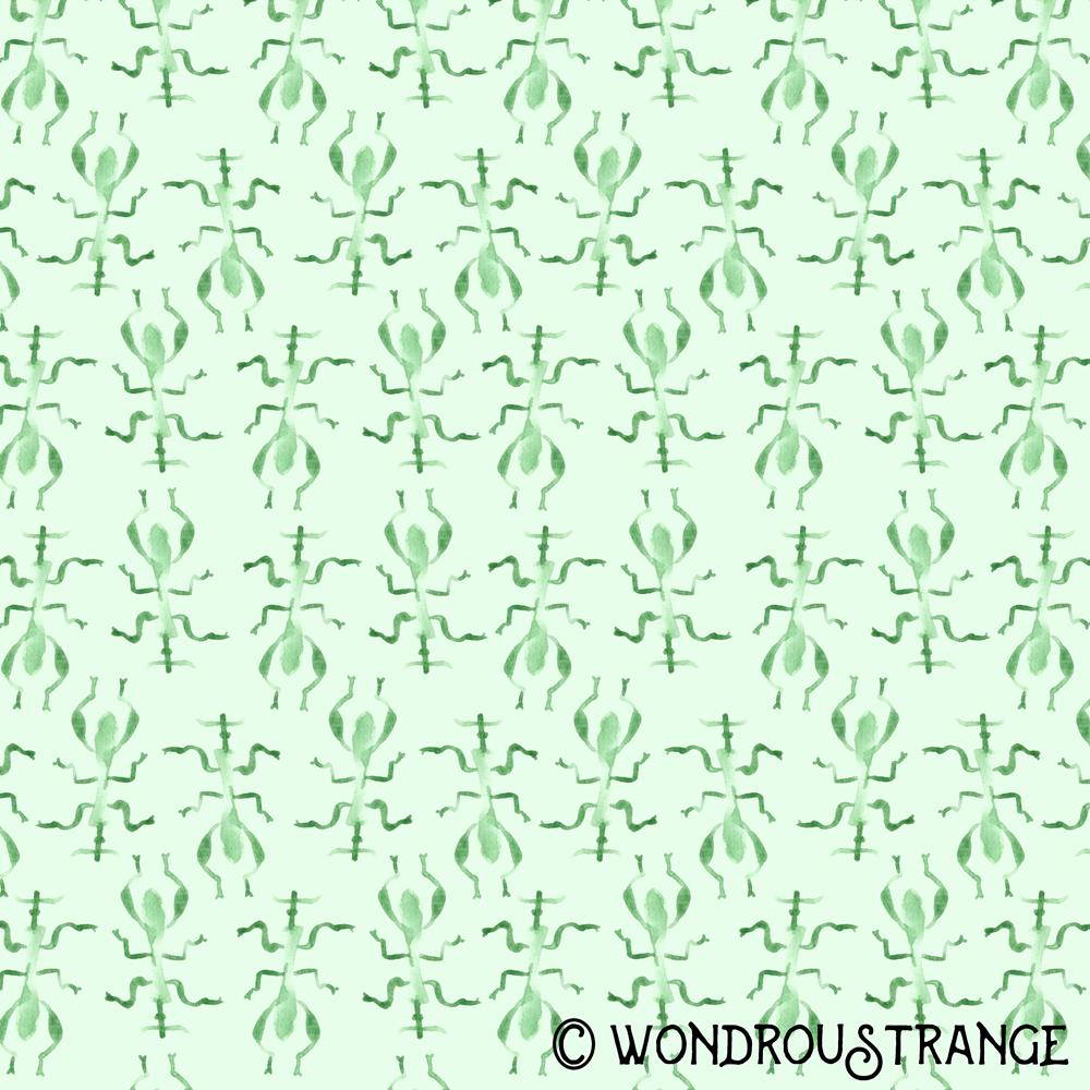 minty stick bug pattern display