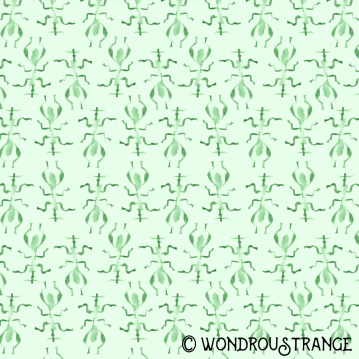 minty stick bug pattern display