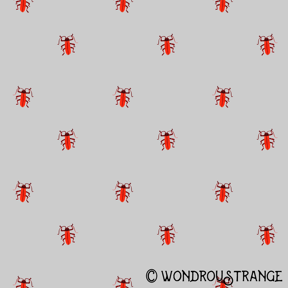Red beetle pattern display