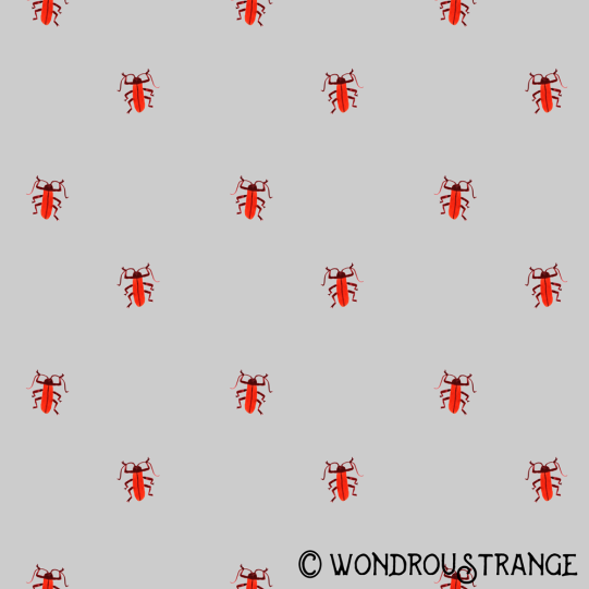 Red beetle pattern display