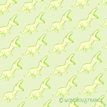 Green Dino Pattern