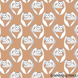 Owl 11 pattern display darker orange