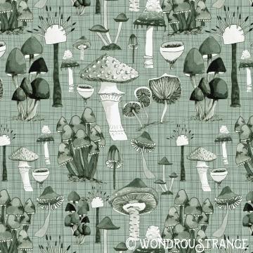 Mushroom Pattern green