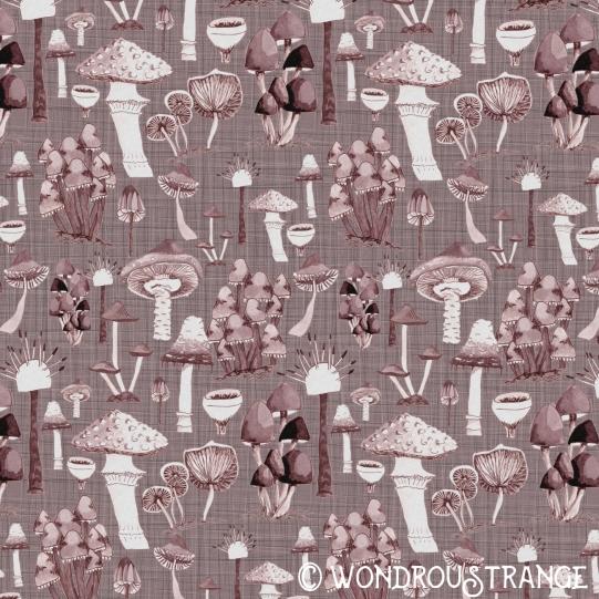 Mushroom Pattern pink