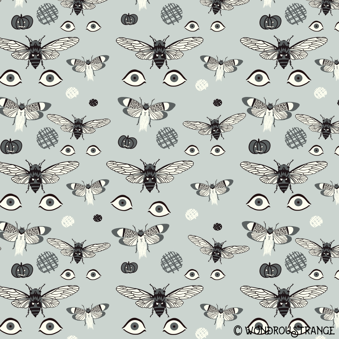 cicada halloween pattern c
