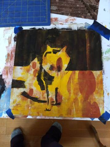 Colorful underpainting